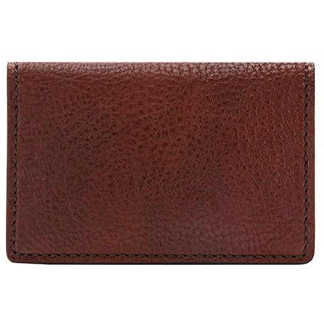Bosca Washed Full Gusset 2 Pkt Card Case With I.D. - Dark Brown