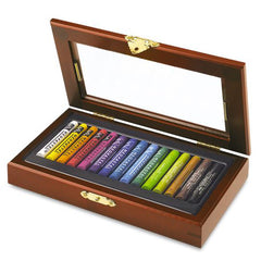 Caran d'Ache Wooden Box Neopastel - 15 Colours Set