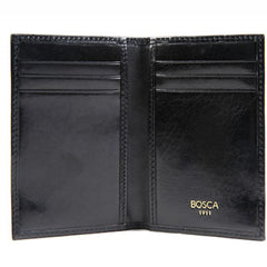Bosca Old Leather Black 8 Pocket Credit Card Case