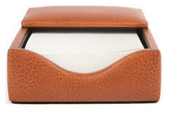 Bosca Flip Top Memo Box in Chestnut - Correspondent