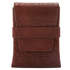 Bosca Washed Envelope Card Case - Dark Brown