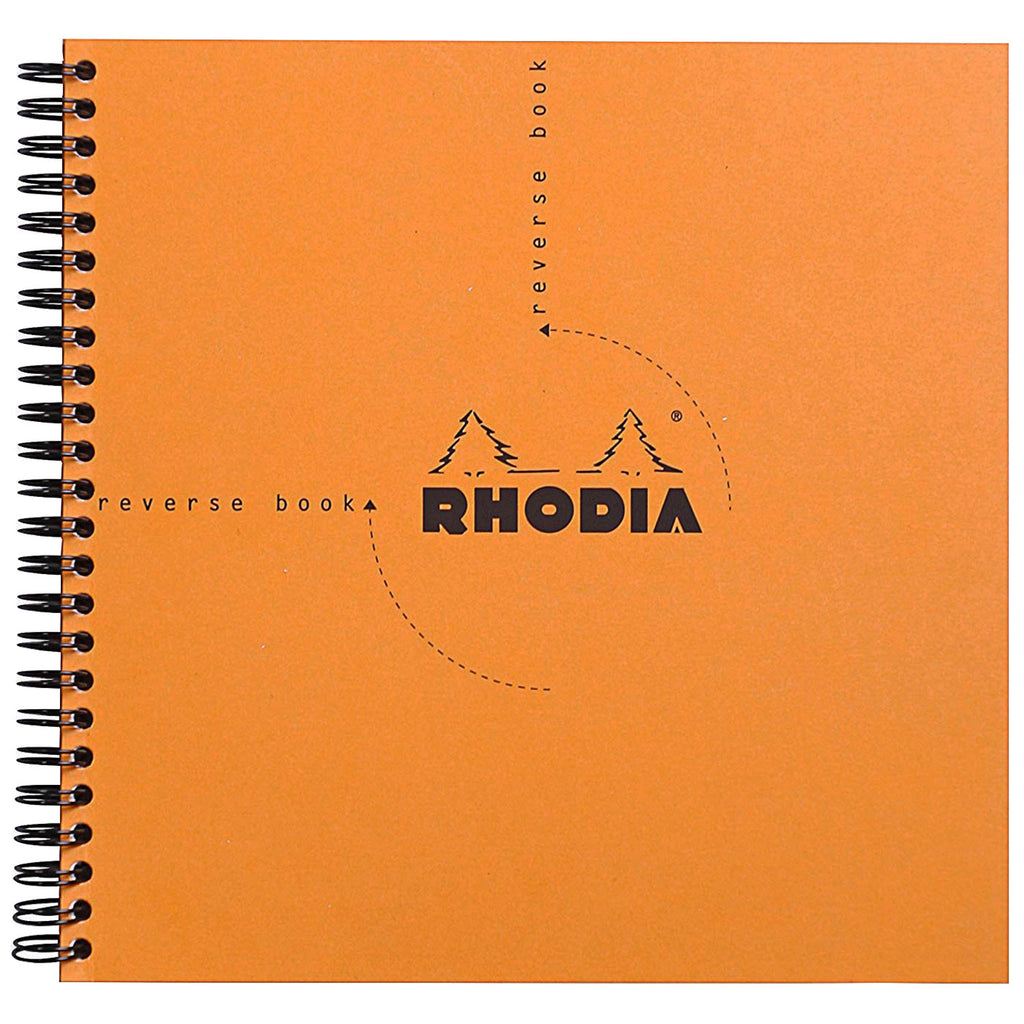 Rhodia Wirebound Orange Reverse Book 8 1/4 x 8 1/4-Pen Boutique Ltd