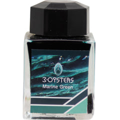 3 Oysters Ink Bottle - Delicious - Marine Green-Refill - Bottled Ink-Pen Boutique Ltd