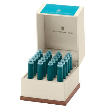 Graf Von Faber-Castell Turquoise Ink Cartridges /Bx 20-Pen Boutique Ltd