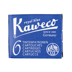 Kaweco Royal Blue Ink cartridges - 6 pieces-Pen Boutique Ltd