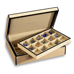 Venlo Blond Thirty Holder Cufflink Case-Pen Boutique Ltd