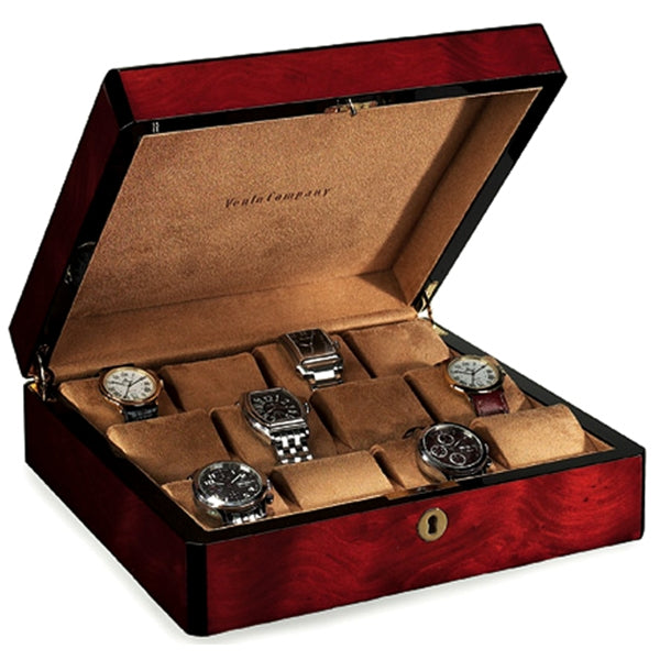 Venlo Triple Burlwood Twelve Holder Watch Case-Pen Boutique Ltd