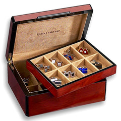 Venlo Triple Burlwood Sixteen Holder Cufflink Case-Pen Boutique Ltd