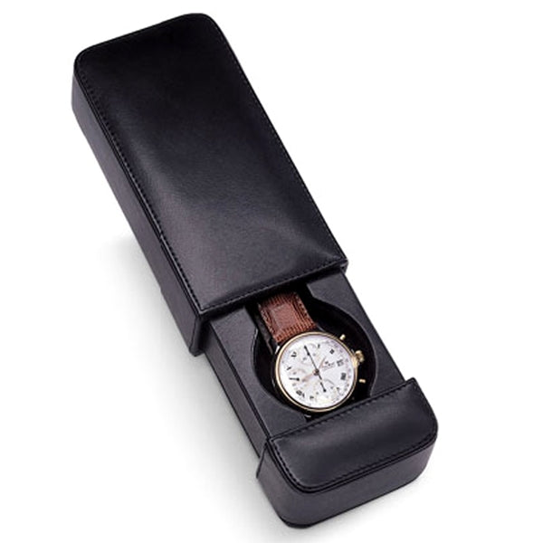 Venlo Italian Leather Milano One Holder Travel Watch Case-Pen Boutique Ltd