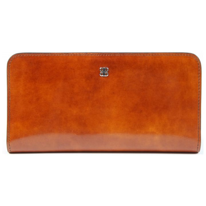 "Bosca Old Leather Amber 7"" Clutch"