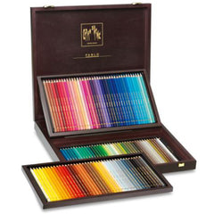 Caran d'Ache Wooden Box Pablo - 120 Pencils Set