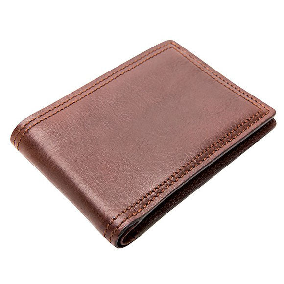 Bosca Old Leather Dolce Dark Brown Small Bifold Wallet