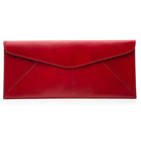 Bosca Old Leather Brick Red Leather Envelope