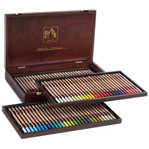 Caran d'Ache Wooden Box Pastel Pencil - 84 Colours Set