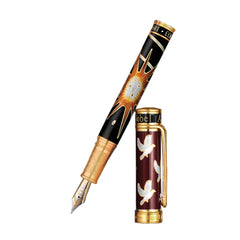 David Oscarson Alfred Bernhard Nobel Fountain Pen - Red Gold w/ Black Barrel-Pen Boutique Ltd