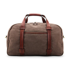 Bosca Washed Fabric Leather Brown Duffel