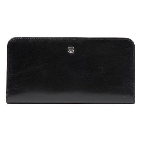 "Bosca Old Leather Black 7"" Clutch"