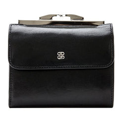 "Bosca 4"" French Purse - Old Leather Classic - Black-Pen Boutique Ltd"
