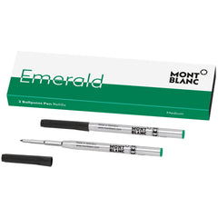 Montblanc Ballpoint Refill - Emerald Green - Medium - 2 Pack
