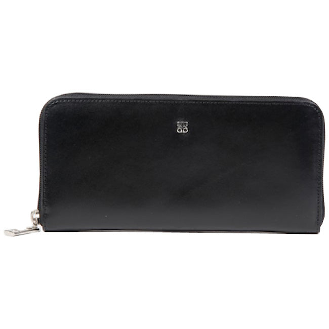 Bosca Old Leather Black Zip Around Wallet