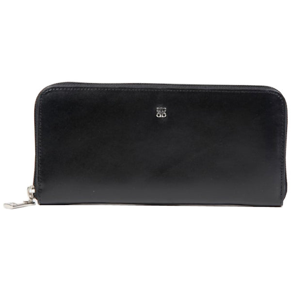Bosca Old Leather Black Zip Around Wallet-Pen Boutique Ltd