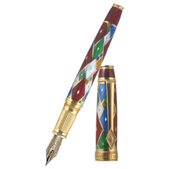 David Oscarson Harlequin Fountain Pen - Ruby Red-Pen Boutique Ltd