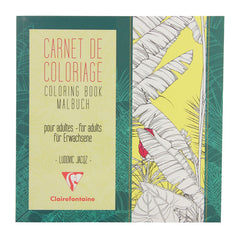 "Clairefontaine Flowers Coloring Book 7 7/8""x7 7/8"""