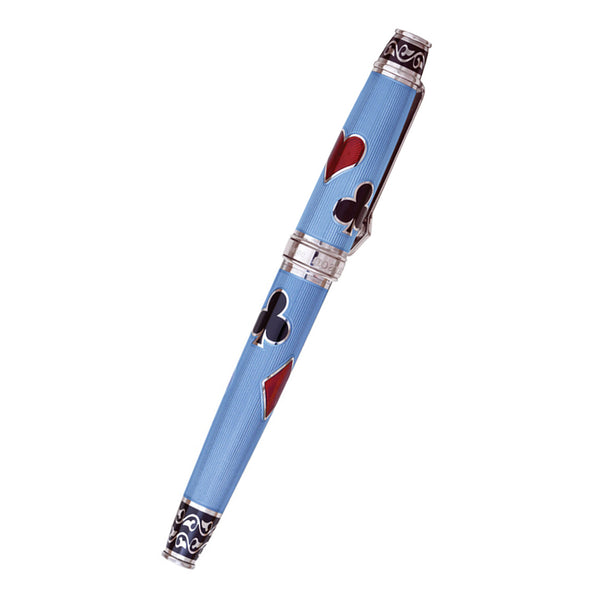 David Oscarson Les Quatre Couleurs Rollerball Pen - Translucent Azure Blue-Pen Boutique Ltd