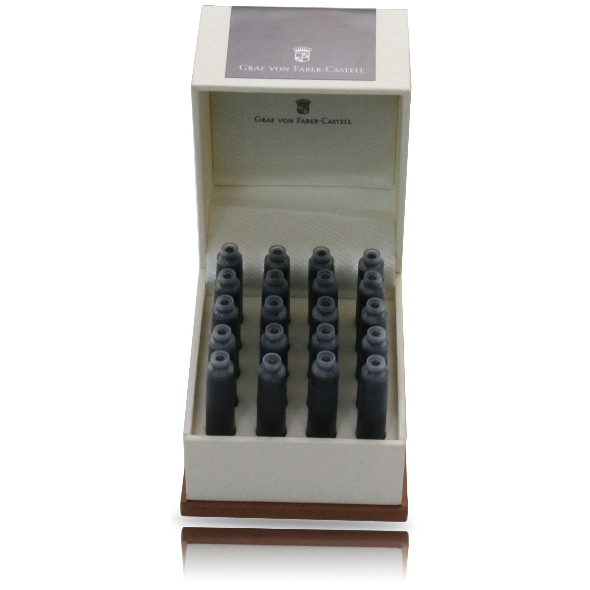 Graf Von Faber-Castell Design Carbon Black Ink Cartridges 20/box-Pen Boutique Ltd