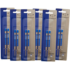 Parker Ballpoint Gel Refill - Blue Medium - 6 packs of 2-Pen Boutique Ltd