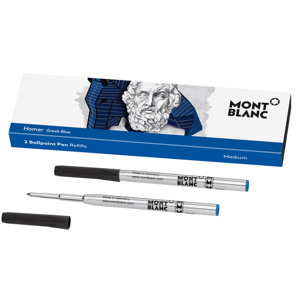 Montblanc Ballpoint Refill - Writers Edition - Homage to Homer - Medium - 2 Pack