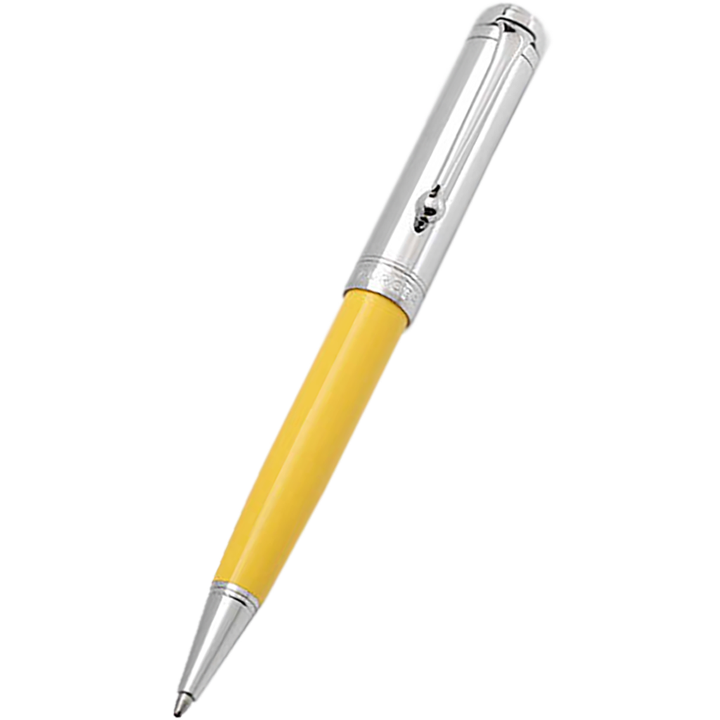 Aurora Talentum Ballpoint Pen - Yellow - Chrome Trim-Pen Boutique Ltd