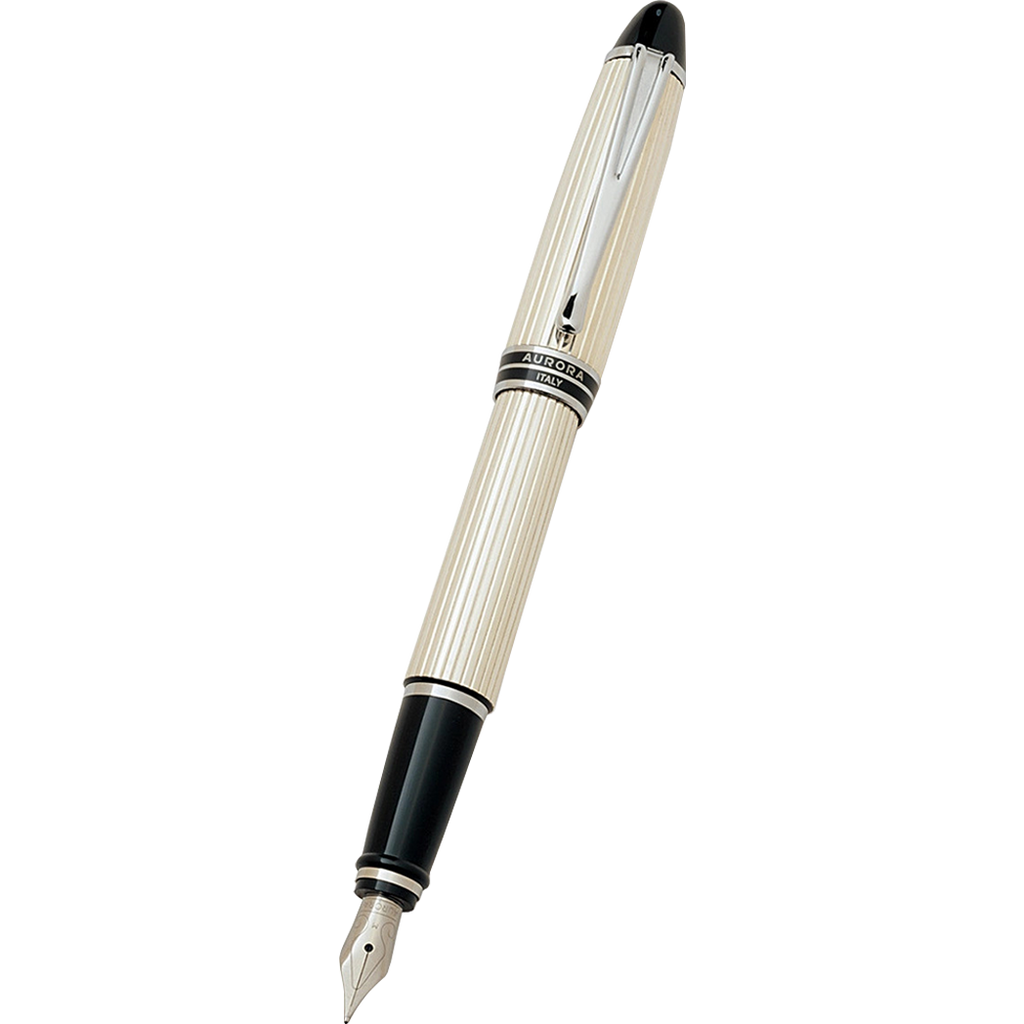 Aurora Ipsilon Fountain Pen - Sterling Silver-Pen Boutique Ltd