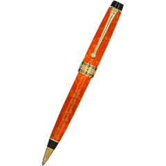 Aurora Optima Ballpoint Pen - Marbled Orange Auroloide-Pen Boutique Ltd