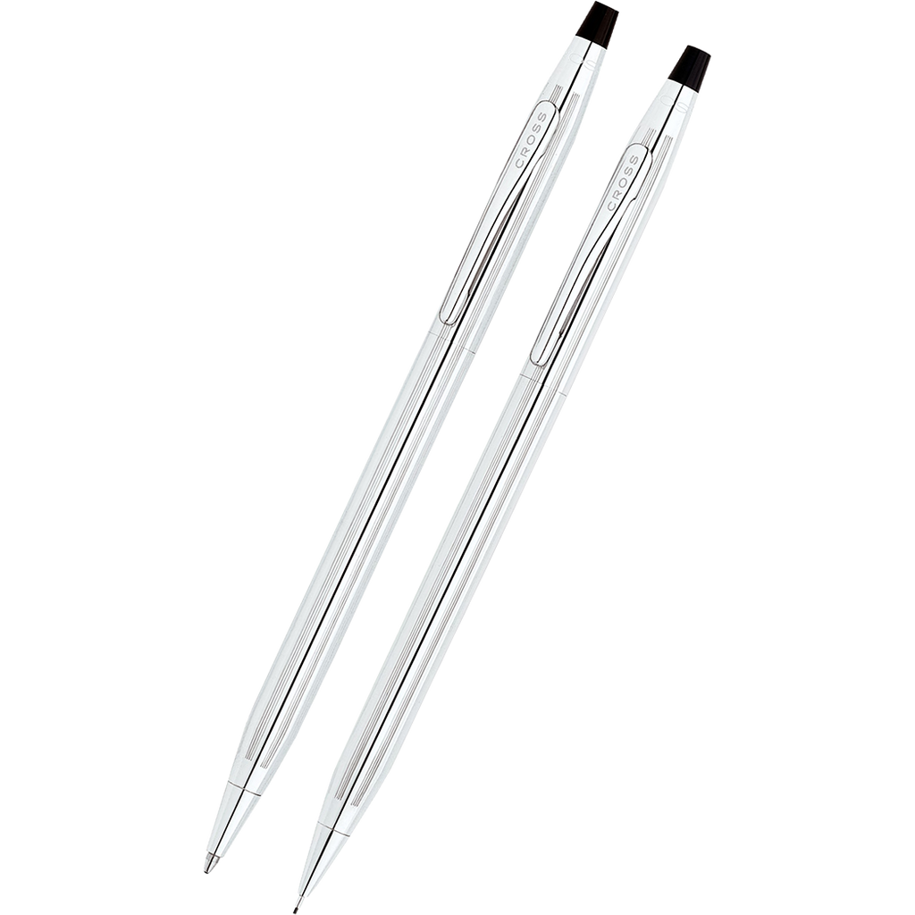 Cross Classic Century Gift Set (Lustrous Chrome Pen & 0.7mm Pencil)-Pen Boutique Ltd