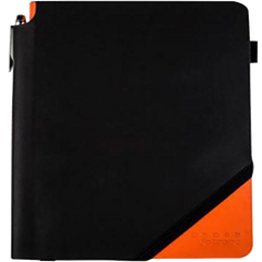 Cross Jot Zone - Black / Orange - Grid - Medium-Pen Boutique Ltd