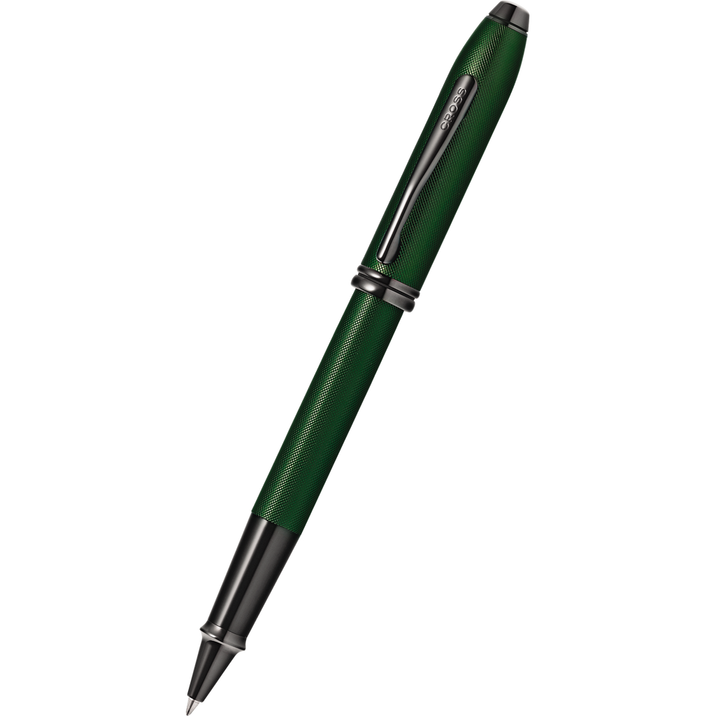 Cross Townsend Rollerball Pen - Matte Green Micro Knurl-Pen Boutique Ltd