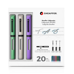 Sheaffer Calligraphy Maxi Kit - Neo-Mint, White, Lavender-Pen Boutique Ltd