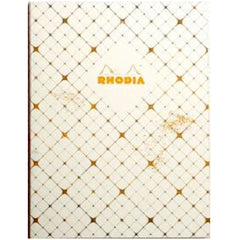 "Rhodia Heritage Book Block Notebook - Checkered Lined (A5 - 6"" x 8.24"")-Pen Boutique Ltd"