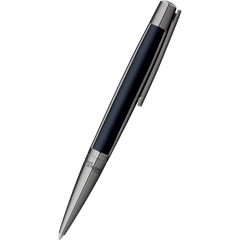 S T Dupont Defi Ballpoint Pen - Gun metal Trim - Black-Pen Boutique Ltd