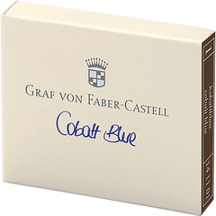 Graf Von Faber-Castell Design 6 Cobalt Blue Ink Cartridges-Pen Boutique Ltd