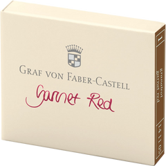 Graf Von Faber-Castell Design 6 Garnet Red Ink Cartridges-Pen Boutique Ltd