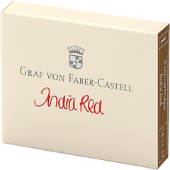Graf Von Faber-Castell Ink Cartridges - India Red - 6/Box-Pen Boutique Ltd