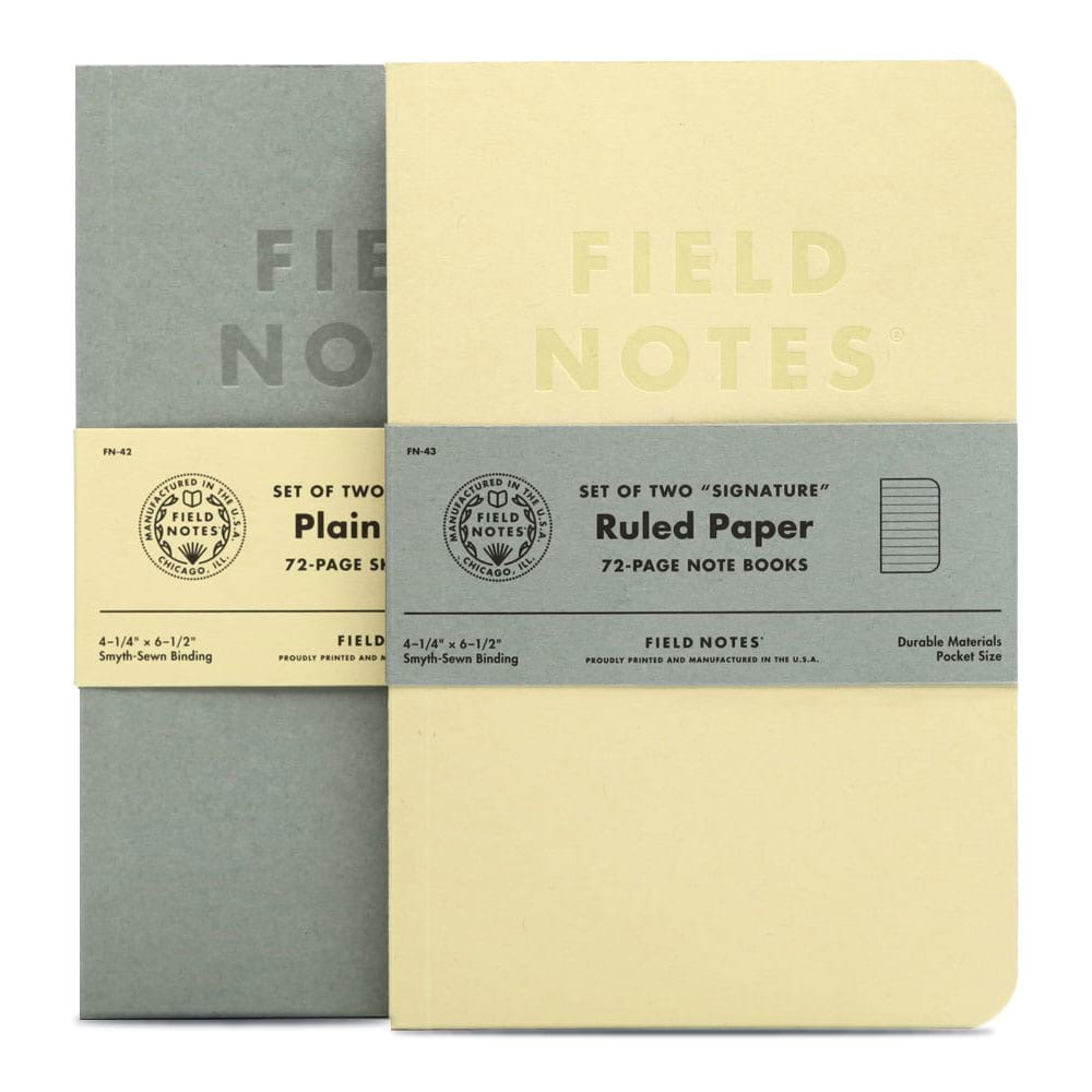 Field Notes Signature Notebooks - Ruled