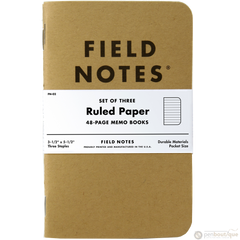 "Field Notes Brand Original Ruled 3-pack 3½"" × 5½""-Pen Boutique Ltd"