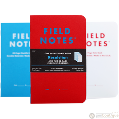 "Field Notes Resolution 2017 Winter Date Book and Journals 3.5"" x 5.5""-Pen Boutique Ltd"