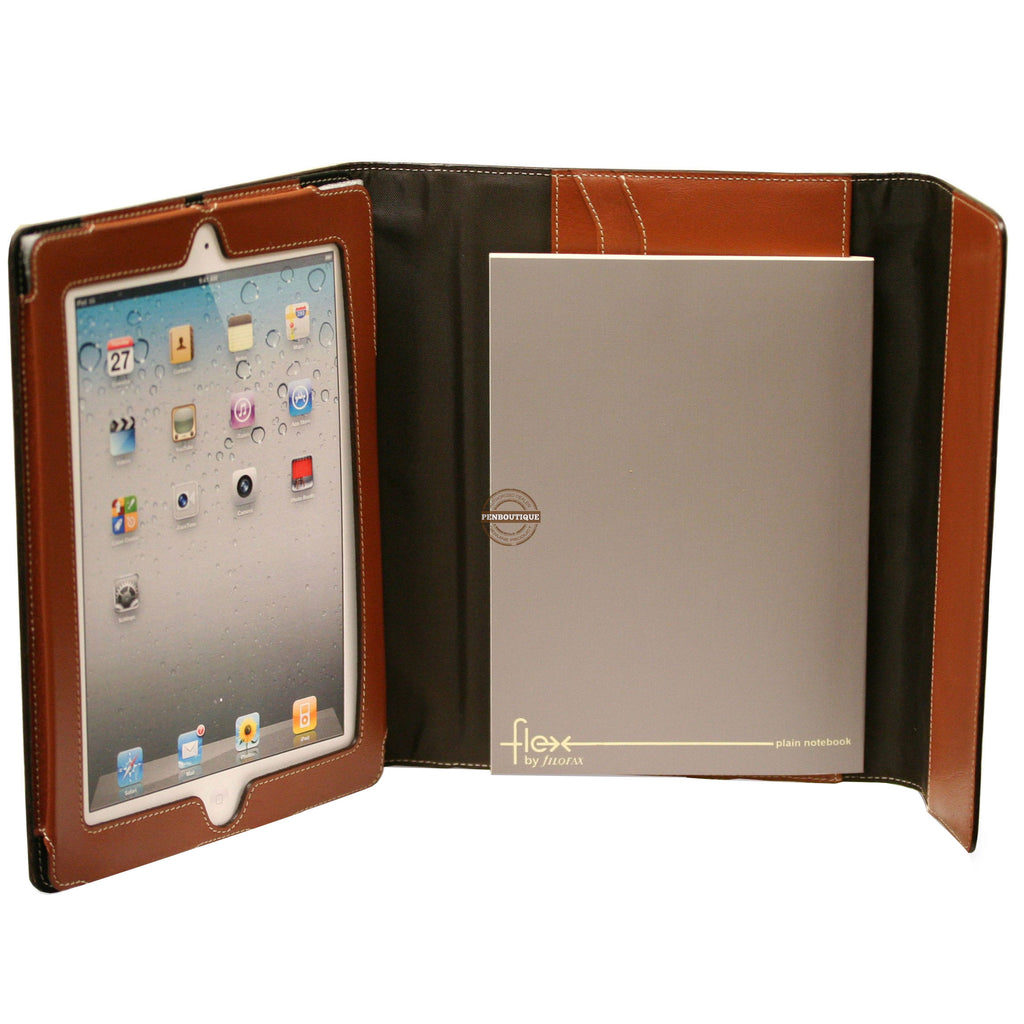 Filofax Flex Natural Leather Ipad Case-Pen Boutique Ltd