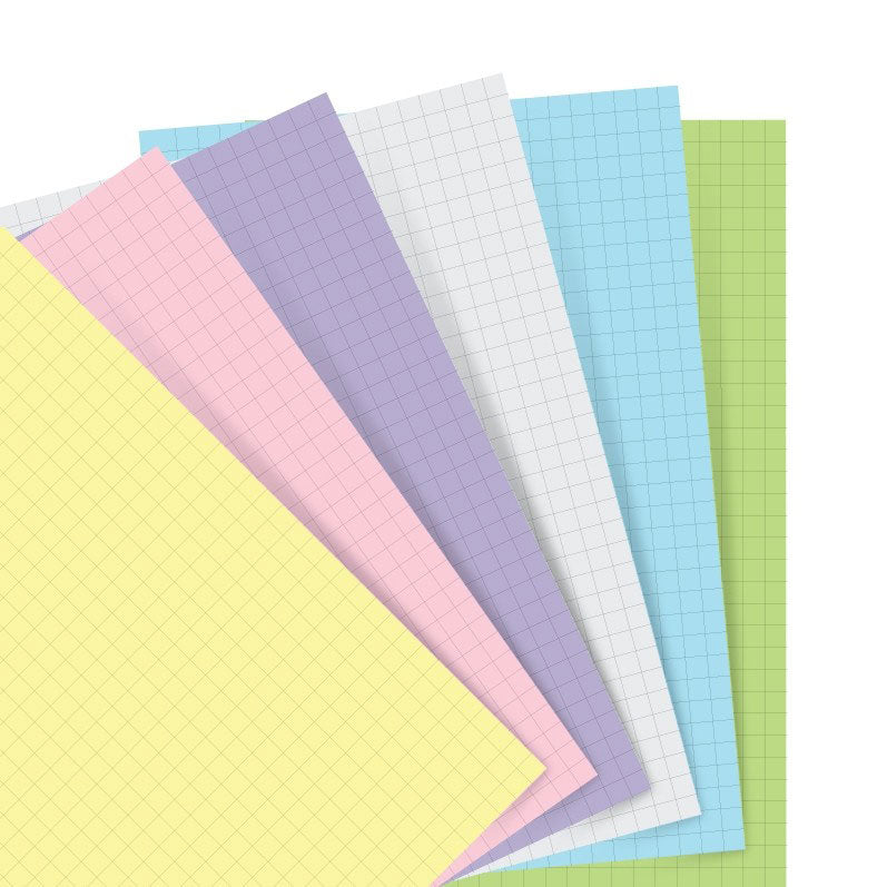 Filofax Pocket Notebook Pastel Colored Refill