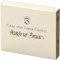 Graf Von Faber-Castell Design 6 Hazelnut Brown Ink Cartridges-Pen Boutique Ltd