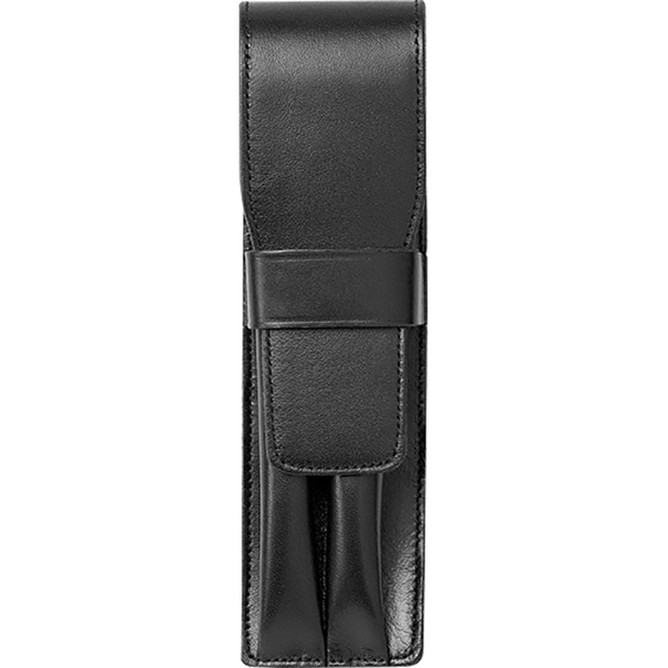 Lamy Leather Black Two Pen Case-Pen Boutique Ltd